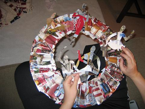 Almost finished wreath, ciao