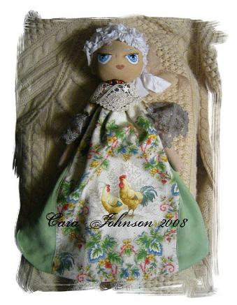 provincial georgie, recycled materials doll, overall
